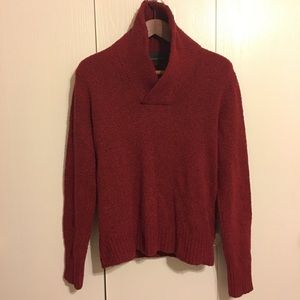 Banana Republic Cranberry Red Wool Blend Sweater